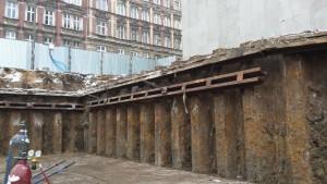 Wiercenie tymczasowych kotew gruntowychWrocław ul. Sikorskiego – Atal