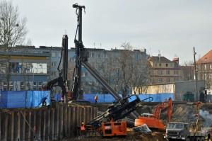 Zabezpieczanie wykopu ul. Jesionowa Wrocław