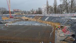 Zabezpieczenie wykopu ścianką berlińską Wrocław