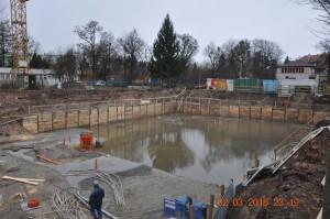 Zabezpieczenie wykopu ścianka berlińska MS Group Wrocław