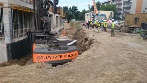 Zabezpieczenie wykopu Wrocław ul. Legnicka WCI