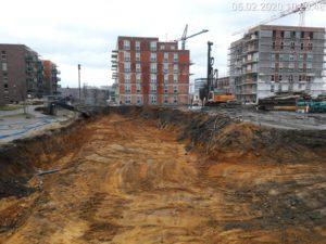 Ścianka berlińska wwibrowywana realizacja w Katowicach