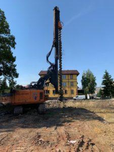 Ścianki berlińskie bezwibracyjne betonowane, ul. Dębowa Kobierzyce