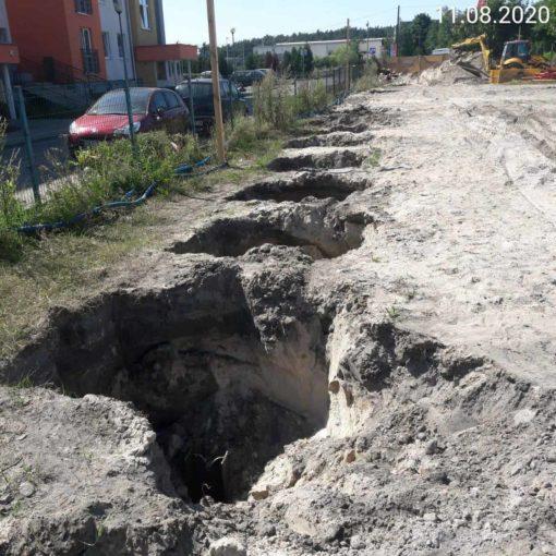 Ścianki berlińskie bezwibracyjne betonowane ul. Zaświat w Bydgoszczy.