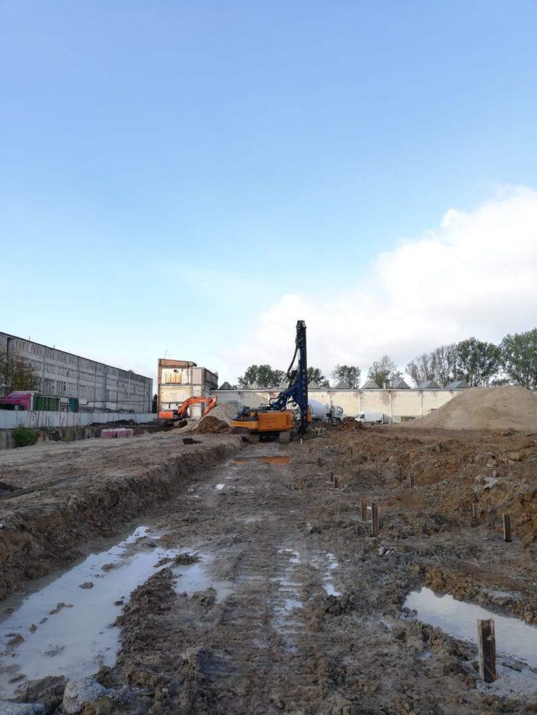 """Pale CFA Ø470 – Centrum Badawczo-Rozwojowe Maszyn Elektrycznych """"EMIT"""" przy ul. Narutowicza w m. Żychlin"""