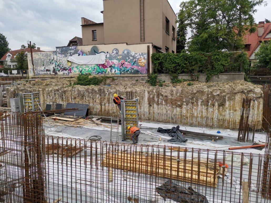 Ścianki szczelne palisada żelbetowa VDW oraz rozparcia stalowe